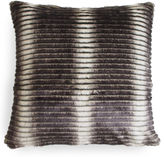 The Piper Collection Smokey 22x22 Striped Pillow, Gray/Cream