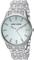 Anne Klein Women's Quartz Metal and Resin Dress Watch, Color:Clear (Model: AK/2617CLSV)