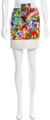 Altuzarra Leather-Trimmed Mini Skirt w/ Tags