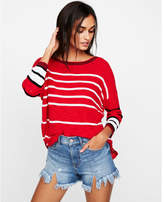 Express striped circle hem tunic sweater