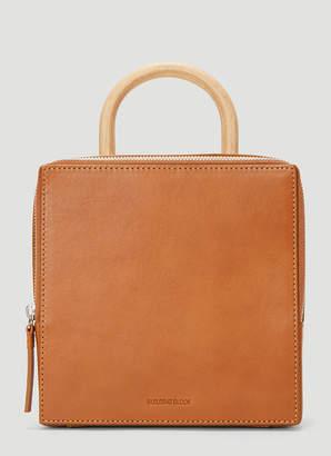 Building Block Box Bag in Brown