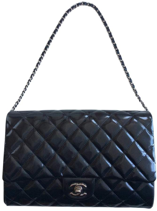 Chanel Mademoiselle patent leather handbag