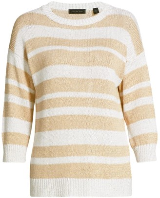 Saks Fifth Avenue COLLECTION Striped Pullover Sweater