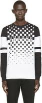 Markus Lupfer Black & White Logo Print Sweatshirt