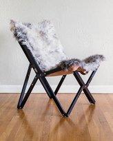 Texas Rover Company Dollie Noir Silver Blue Sheepskin Chair