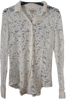 Burberry White Lace Tops