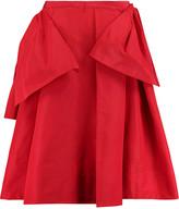 Rochas Layered pleated satin-twill skirt
