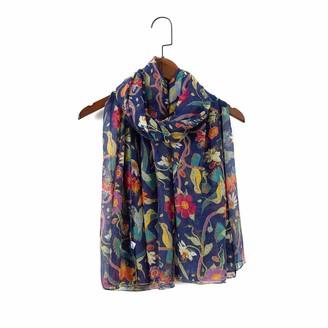 "London scarfs Women""s fashion Butterfly Print Long Scarves floral Neck Scarf Shawl (Maroon)"