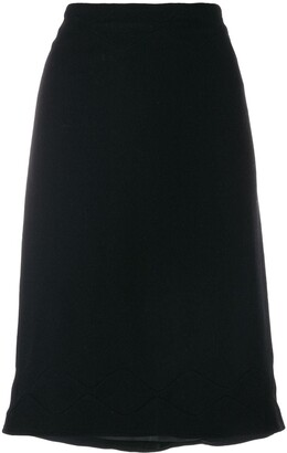 Jil Sander Pre Owned Scallop Stitch Detail Skirt