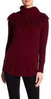 Sofia Cashmere Cashmere Fringe Cowl Neck Sweater