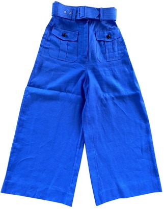Zimmermann Blue Cloth Trousers for Women