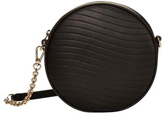 Furla Swing Mini Crossbody Round (Nero) Handbags