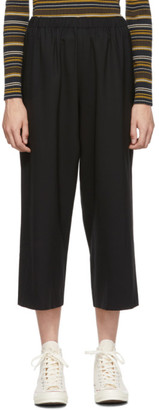 6397 Black Wool Classic Wide-Leg Trousers