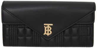Burberry Black Halton EV Continental Wallet