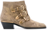Chloé Susanna buckled ankle boots - women - Calf Leather/Leather - 36