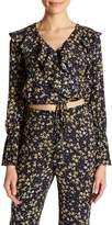 Lucy Paris Kate Floral Print Wrap Blouse