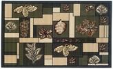 Linon Capri Leaf Block Rug - 4'3'' x 7'3''