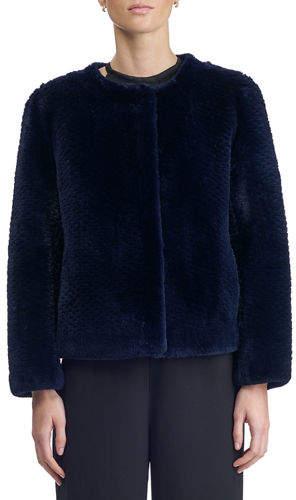 Gorski Round-Neck Long-Sleeve Beaver Fur Jacket
