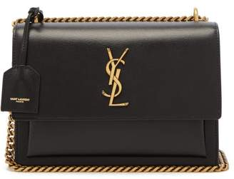 Saint Laurent Sunset Medium Leather Cross-body Bag - Womens - Black