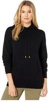 MICHAEL Michael Kors Pocket Hoodie (Black) Women's Clothing