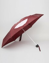 Lulu Guinness Tiny Umbrella In Abstract Lips Print