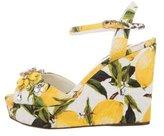 Dolce & Gabbana Limoni Platform Wedge Sandals