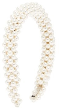 Shrimps Antonia Faux-pearl Headband - Pearl