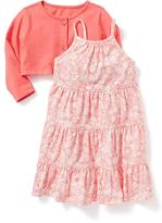 Old Navy Tiered Sundress & Cardi Set for Baby