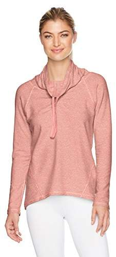 Danskin Women's Convertible Funnel Neck Flared Pullover