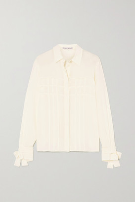 Yoox Net A Porter For The Prince's Foundation YOOX NET-A-PORTER For The Prince's Foundation - Pleated Organic Silk Shirt - Ivory