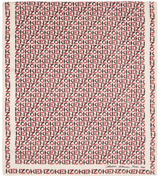 Kenzo Off-White Silk Monogram Scarf