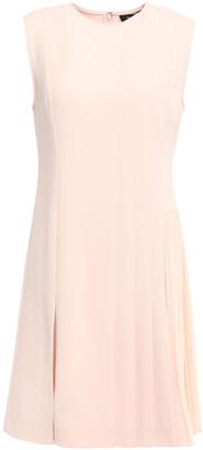 Theory Admiral Georgette-paneled Pleated Crepe Mini Dress