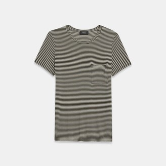 Theory Easy Pocket Tee in Striped Jersey