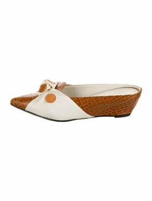 Trademark Leather Knot Adrien Mules Brown