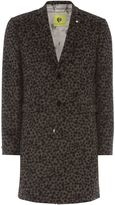 Noose And Monkey Leopard Print Wool Overcoat Coat
