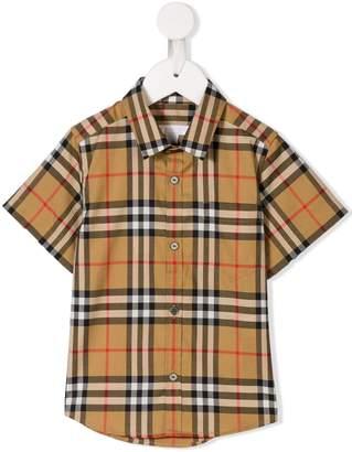 Burberry checked short-sleeved shirt