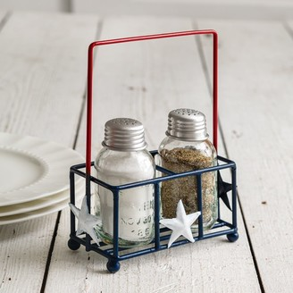 Overstock Liberty Salt and Pepper Shaker Caddy - Box of 2 - Multi