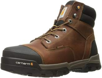 Carhartt Men's Ground Force 6-Inch Brown Waterproof Work Boot - Soft Toe