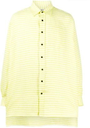 Acne Studios Gingham Oversized Shirt