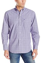 Izod Men's Essential Windowpane Long Sleeve Shirt