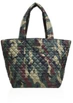M Z Wallace Oxford Medium Metro Camouflage Quilted Nylon Tote