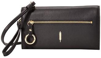 THACKER Eve Crossbody Wallet (Black) Handbags