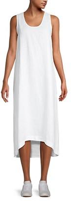 Saks Fifth Avenue High-Low Linen Shift Dress