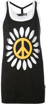 Love Moschino flower power tank top - women - Cotton - 40