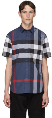 Burberry Blue Check Slim Shirt