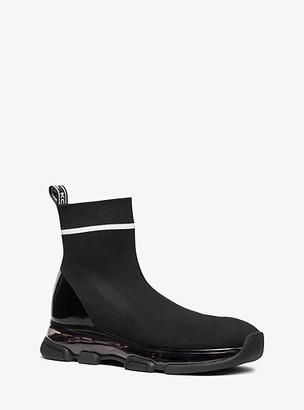 MICHAEL Michael Kors MK Kendra Stretch-Knit Sock Sneaker - Black/white - Michael Kors
