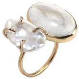 Melissa Joy Manning Gold, Pearl and Opal Open Ring