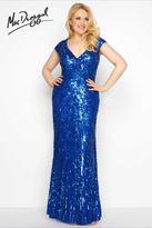 Mac Duggal Fabulouss - 4372 Cap Gown In Royal
