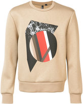 Neil Barrett front print sweatshirt - men - Polyurethane/Spandex/Elastane/Viscose - L