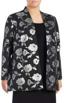 Calvin Klein Plus Jacquard Floral Jacket
